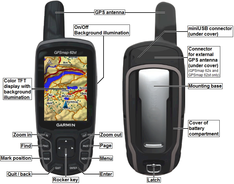 Máy định vị GPS Garmin Map 72H dùng đo rừng