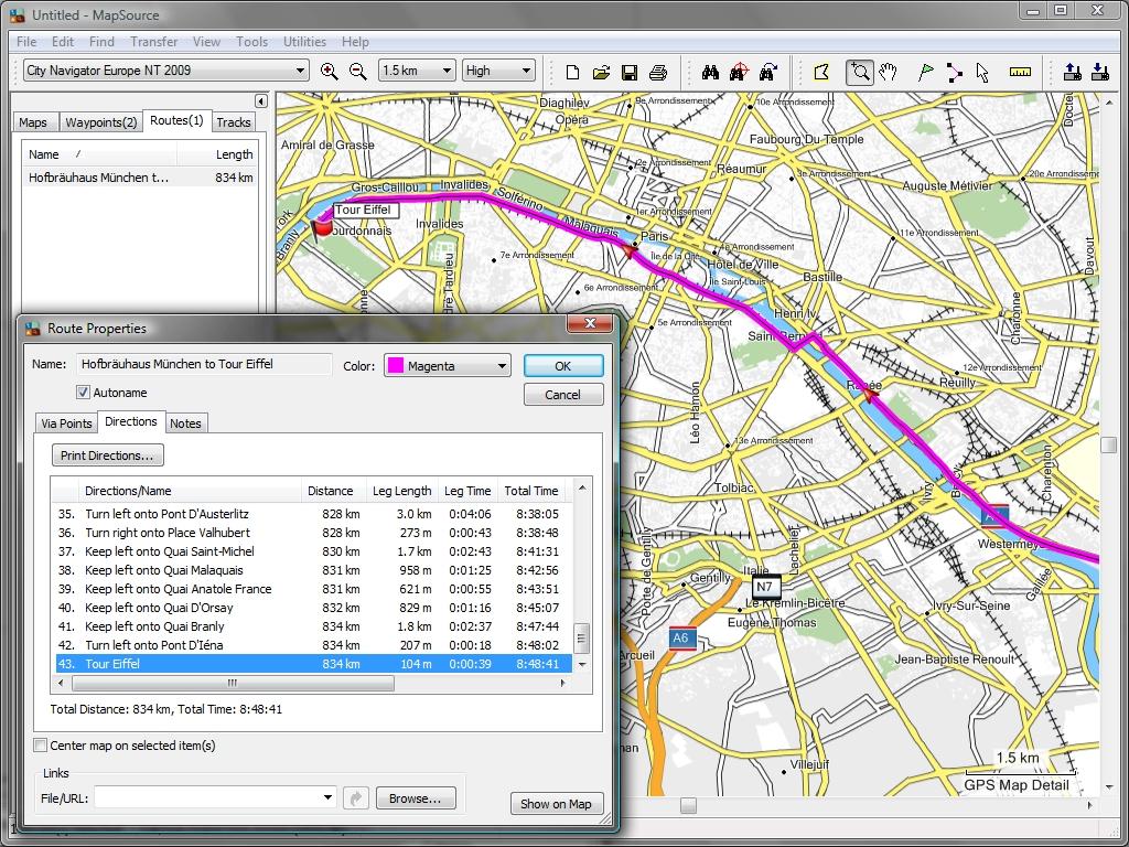 TRAMsoft GmbH - GARMIN MapSource (english)