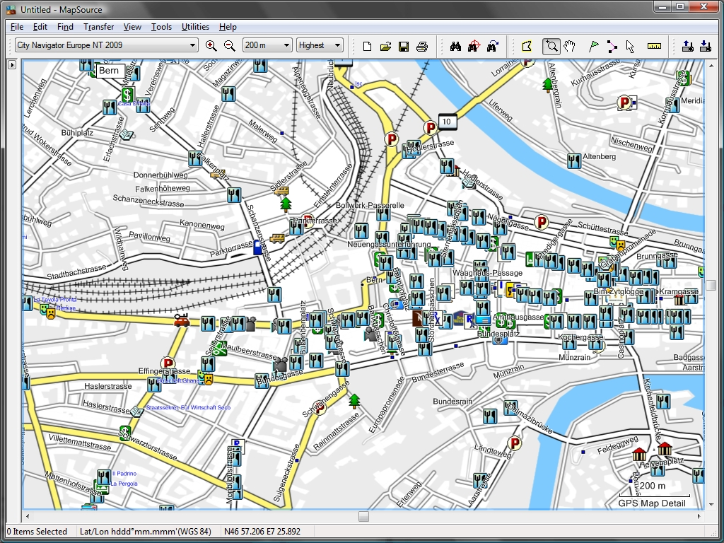 Tramsoft gmbh garmin mapsource english extract of world map with bern city extract of city navigator europe with bern city gumiabroncs Gallery