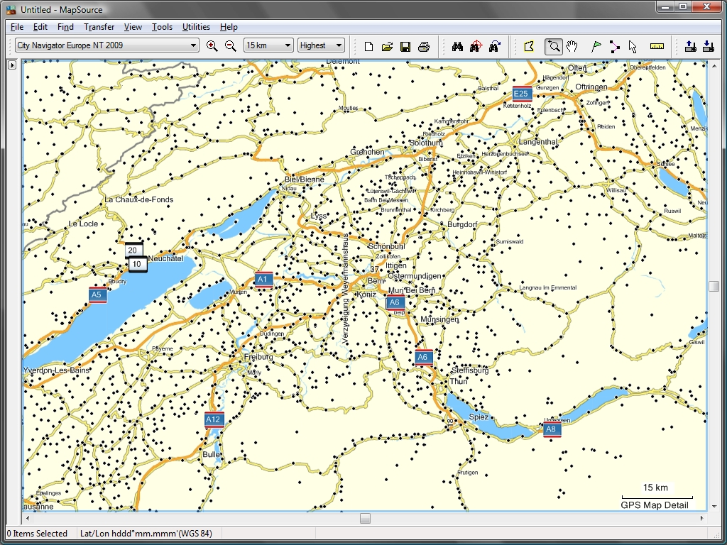 Tramsoft gmbh garmin mapsource english extract of world map with bern and vicinity extract of city navigator europe with bern and vicinity gumiabroncs Gallery