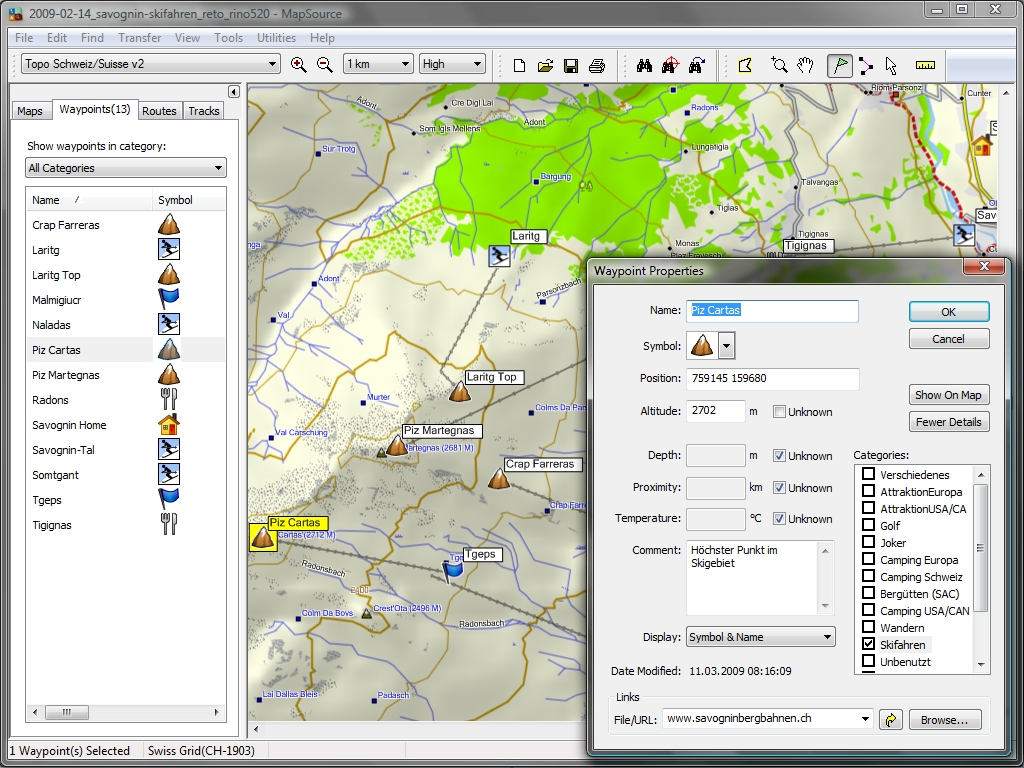 Tramsoft gmbh garmin mapsource english extract of the swiss map with waypoints gumiabroncs Gallery