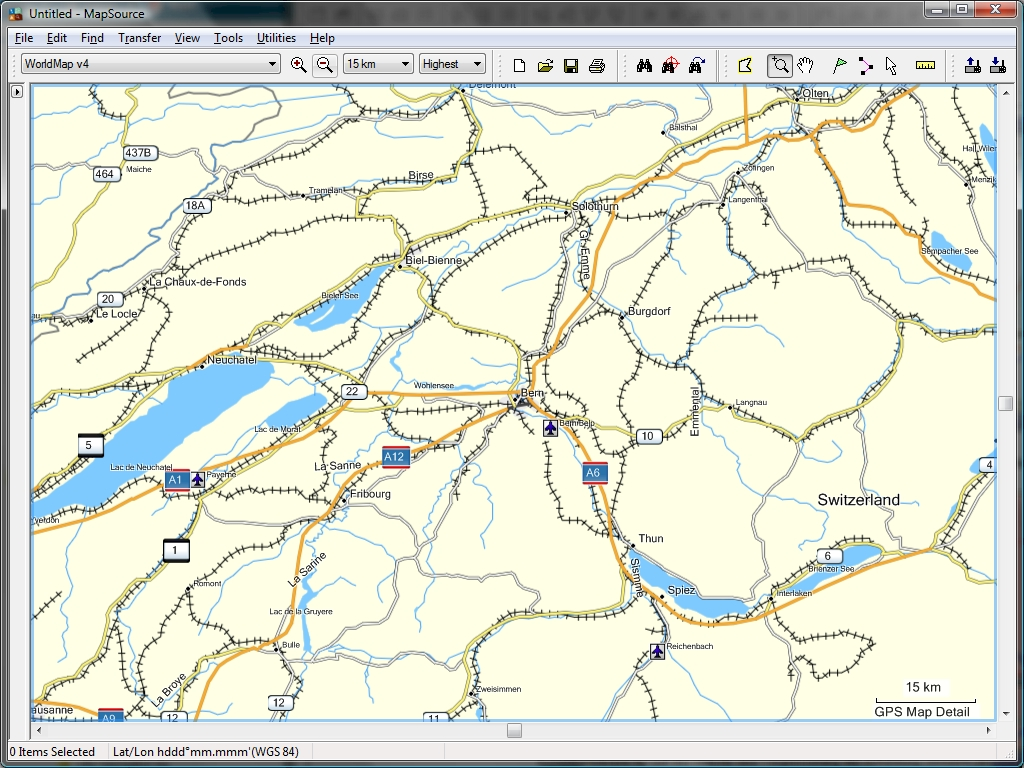 Tramsoft gmbh garmin mapsource english extract of world map with bern and vicinity gumiabroncs Gallery
