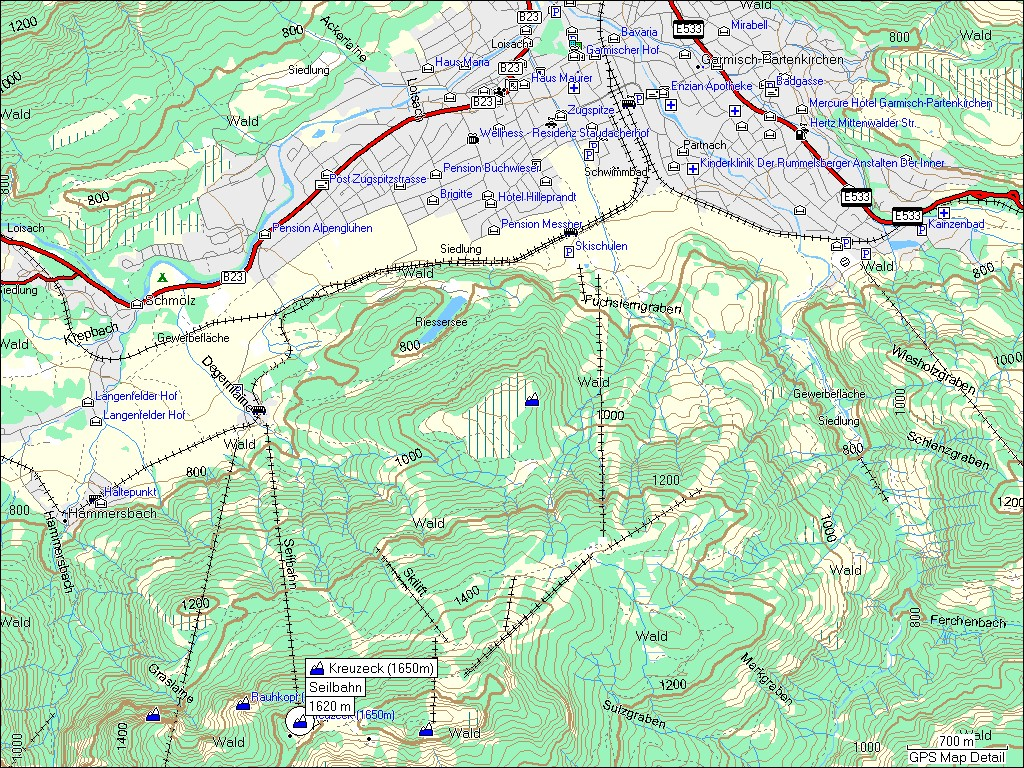 topographic map of germany garmisch patenkirchen