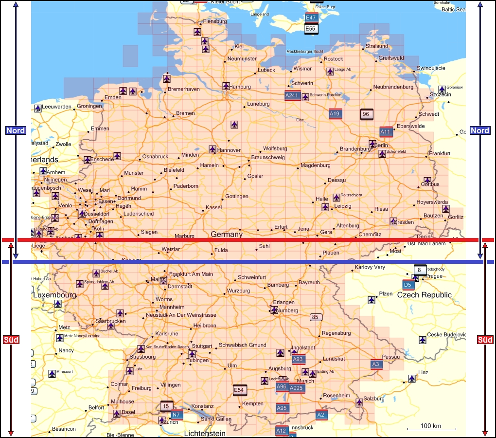 topographic map of germany coverage