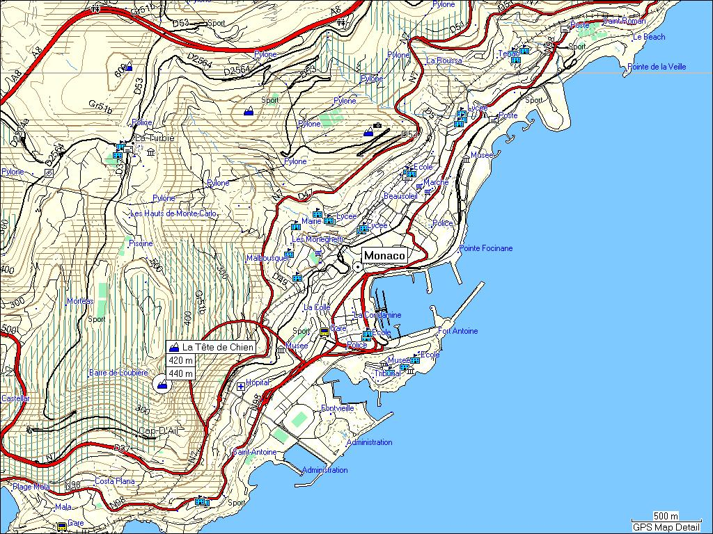 Gps Elevation Map.Tramsoft Gmbh Garmin Mapsource France English
