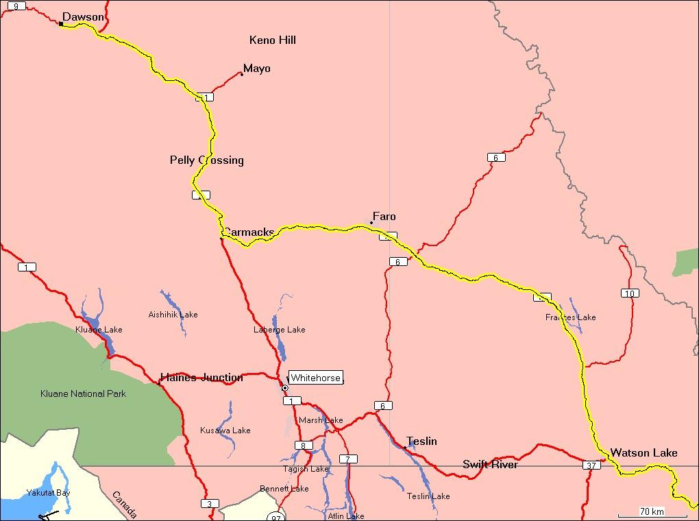 Whitehorse karte