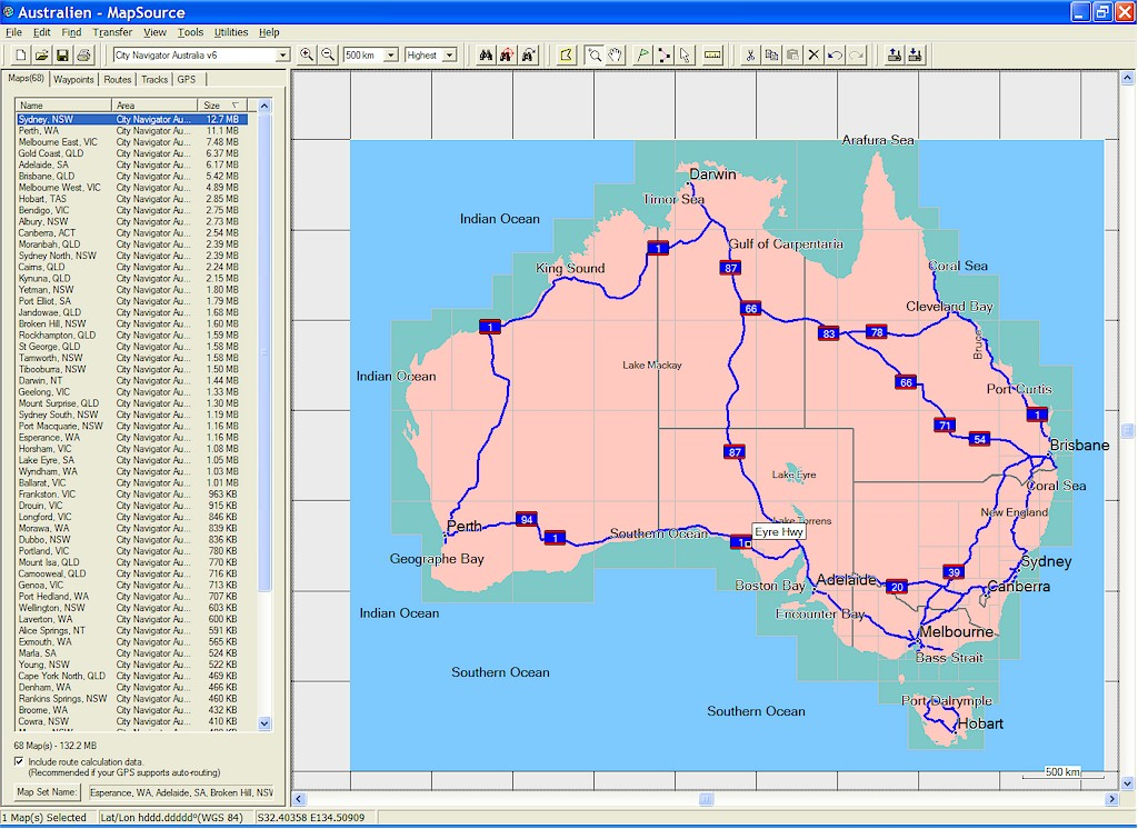 TRAMsoft GmbH - GARMIN MapSource Australia and New Zealand (English)