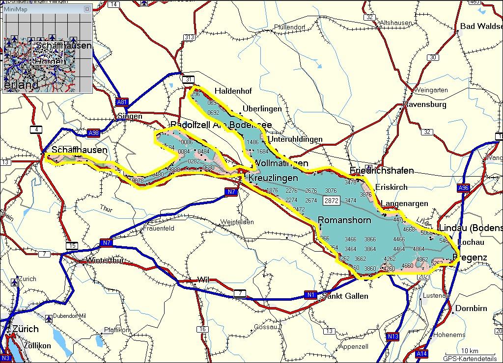 TRAMsoft GmbH GARMIN MapSource Switzerland Lakes English