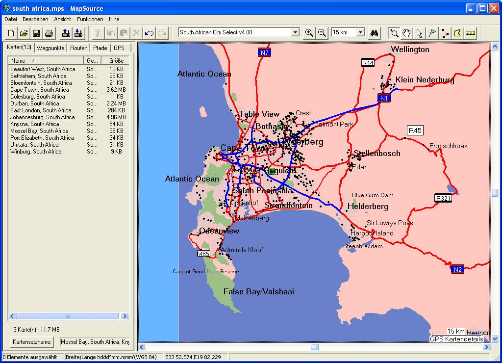 TRAMsoft GmbH - GARMIN MapSource South Africa (English) on
