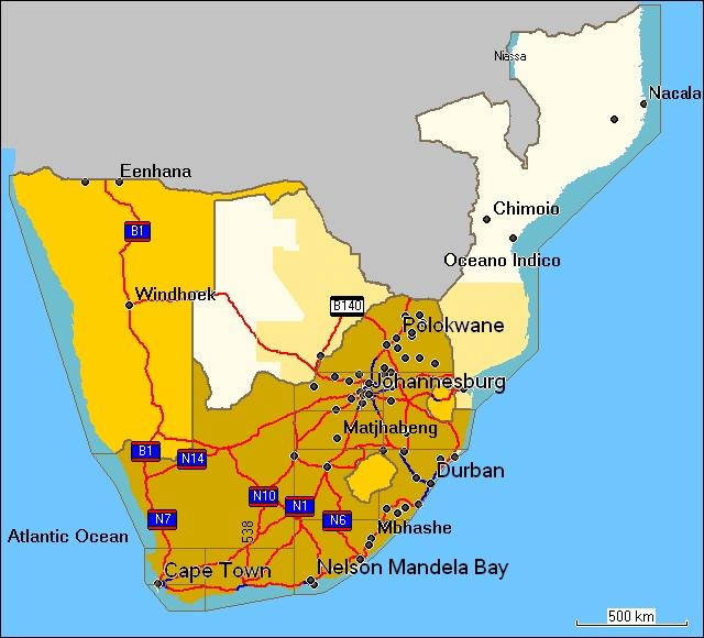TRAMsoft GmbH - GARMIN MapSource South Africa (English)