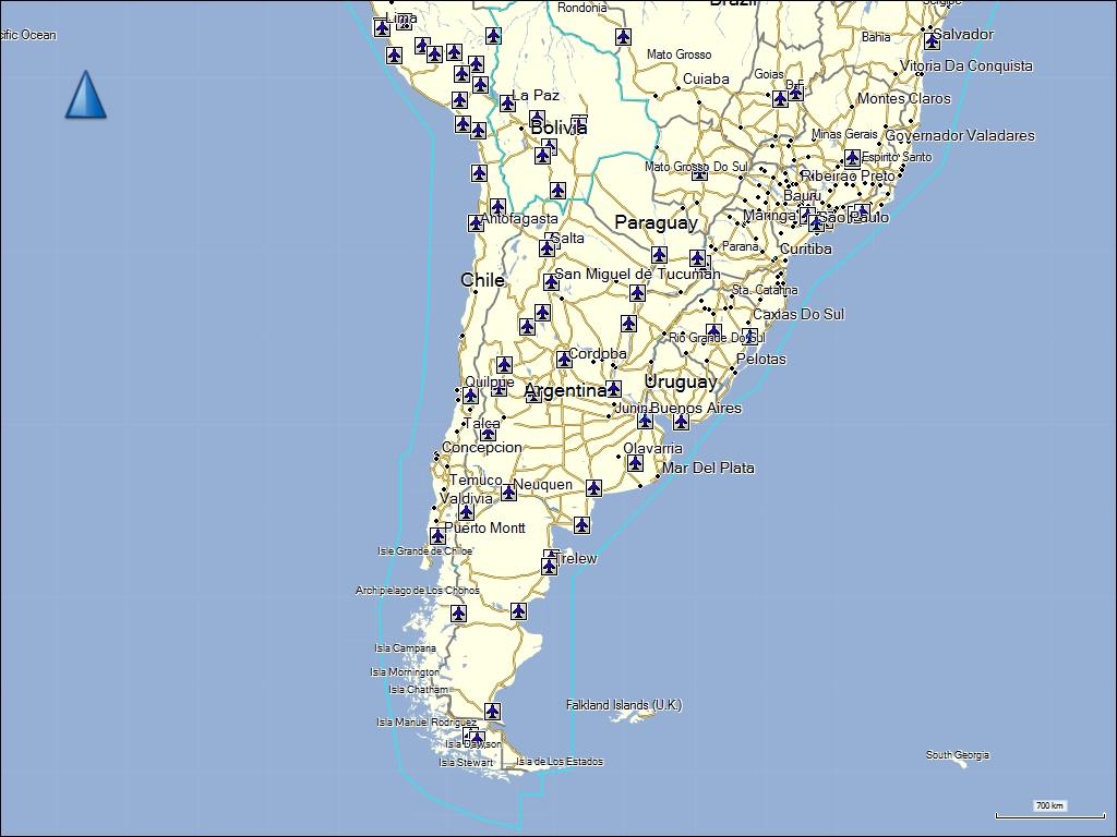 karte chile TRAMsoft GmbH   GARMIN MapSource Südamerika (deutsch)