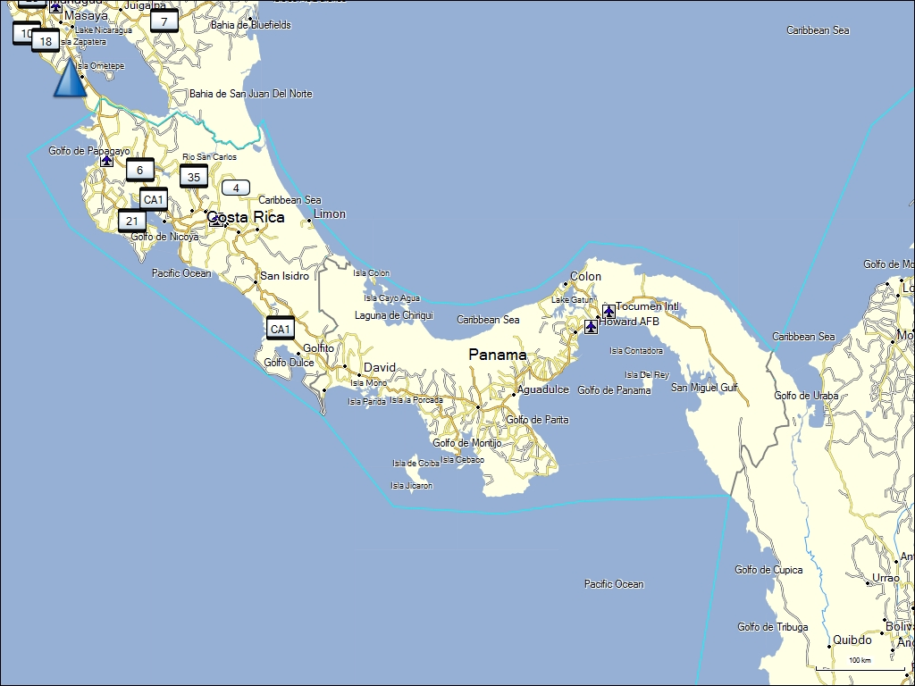 Costa Rica South America Map.Tramsoft Gmbh Garmin Mapsource South America English