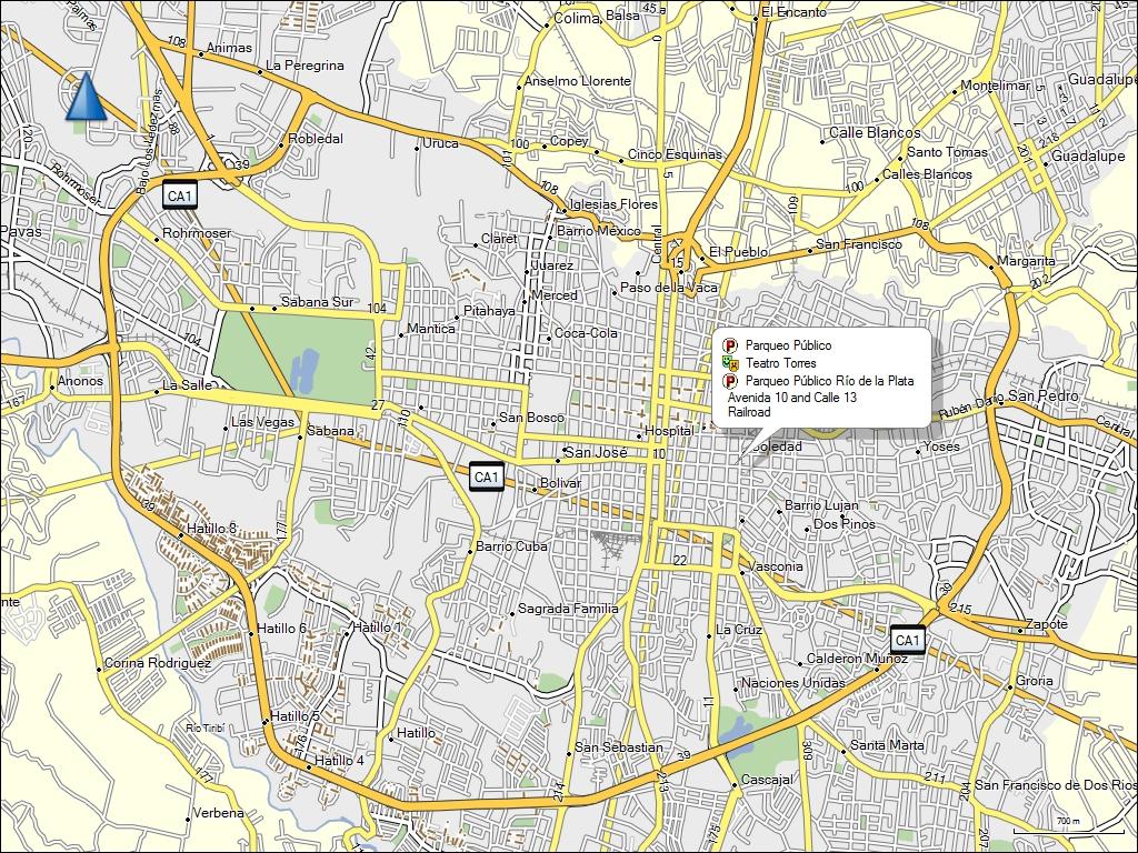 TRAMsoft GmbH GARMIN MapSource South America English - Map of usa showing san jose