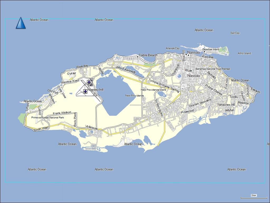 Pics Photos  The Bahamas Map Of New Providence Bahamas