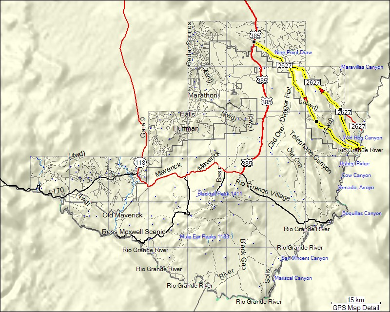 TRAMsoft GmbH GARMIN MapSource USA English - Big bend national park map us