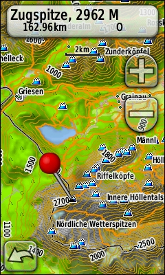 Garmin Oregon 400t Topographical Map Of Europe Example Zugspitze Germany